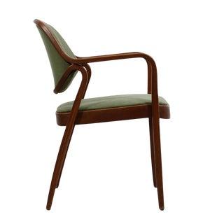 Mid-Century Modern Green Accent Arm Chair