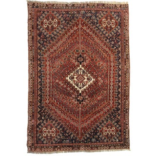"Antique Hand Knotted Wool Rug - 6'1"" x 8'9"""