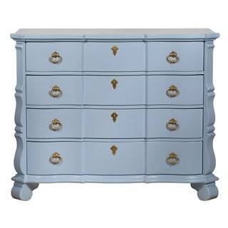 Blue French-Style 4-Drawer Dresser