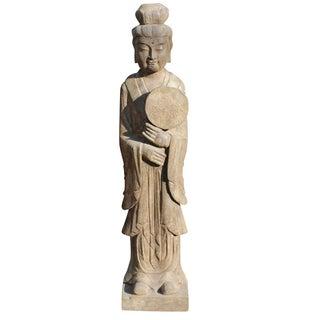 Stone Geisha Statue
