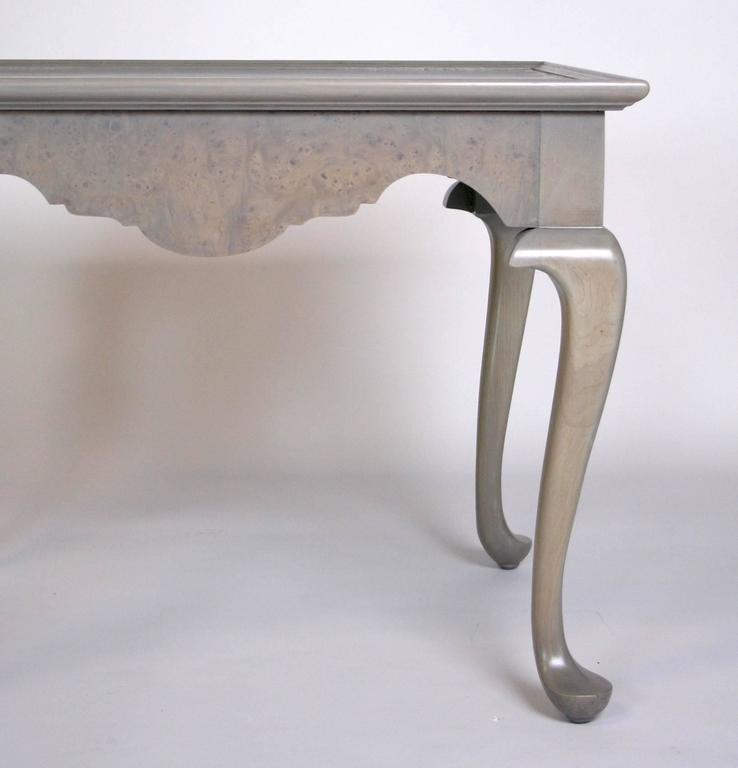 Grey Stained Queen Anne Style Side Tables   A Pair   Image 4 Of 7