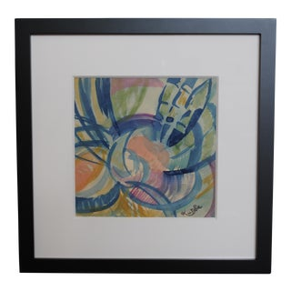 1970s Abstract Watercolor Painting