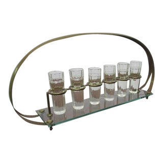 Bronze Baccarat Shot Glass Caddy