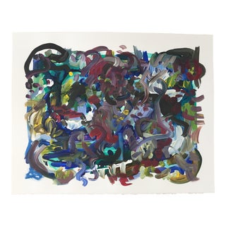 """Muddy"" Abstract Acrylic Painting"