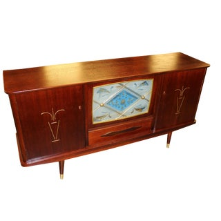 1930s French Art Deco Period Rosewood Credenza / Bar