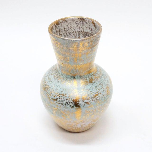 Image of Stangl Golden Turquoise Cornucopia & Vase