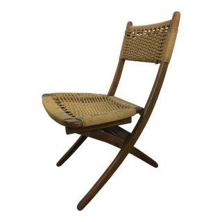 Hans Wegner Danish Style Folding Rope Chair