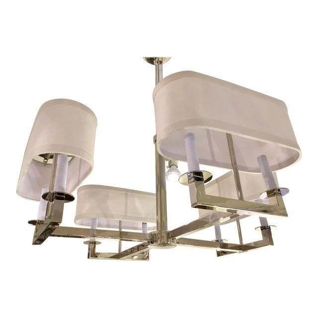 New! Modern Oval Shade Chandelier | Chairish