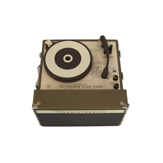 Vintage Audiotronics Brown Record Player