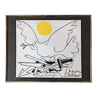 Framed Picasso Dove of Peace Print