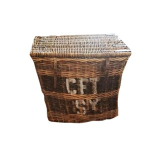 Vintage French Wicker Laundry Basket