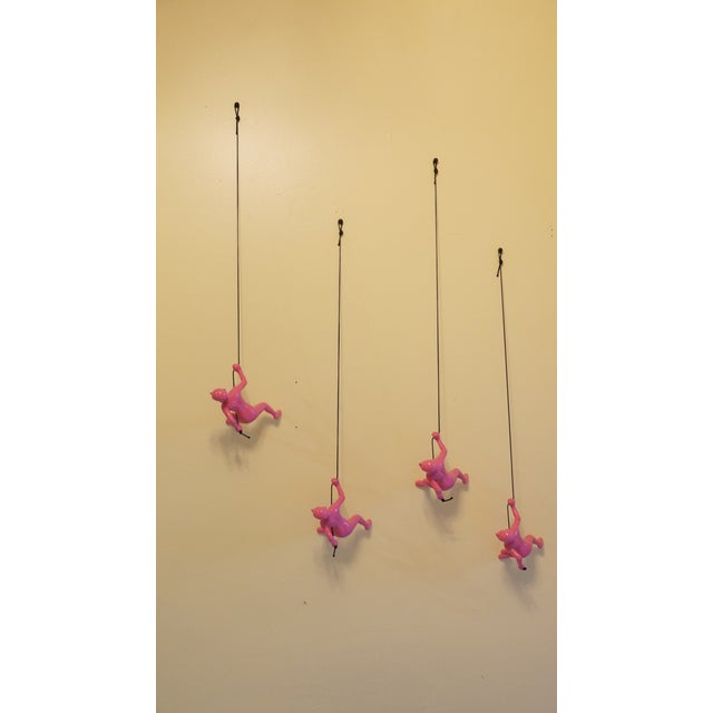 Pink Climbing Man Wall Art - Set of 4 - Image 3 of 7