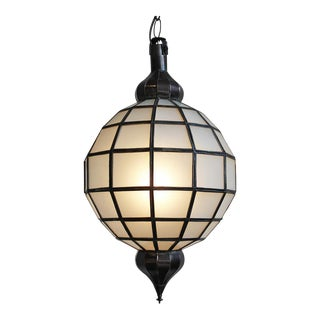 Contemporary Frosted Globe Lantern