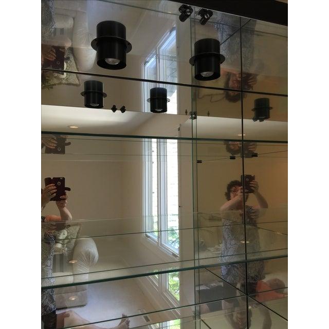 Ello Black Glass Curio Cabinet Desk - Image 6 of 11