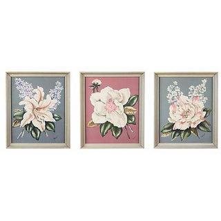 Vintage Floral Lithographs - Set of 3