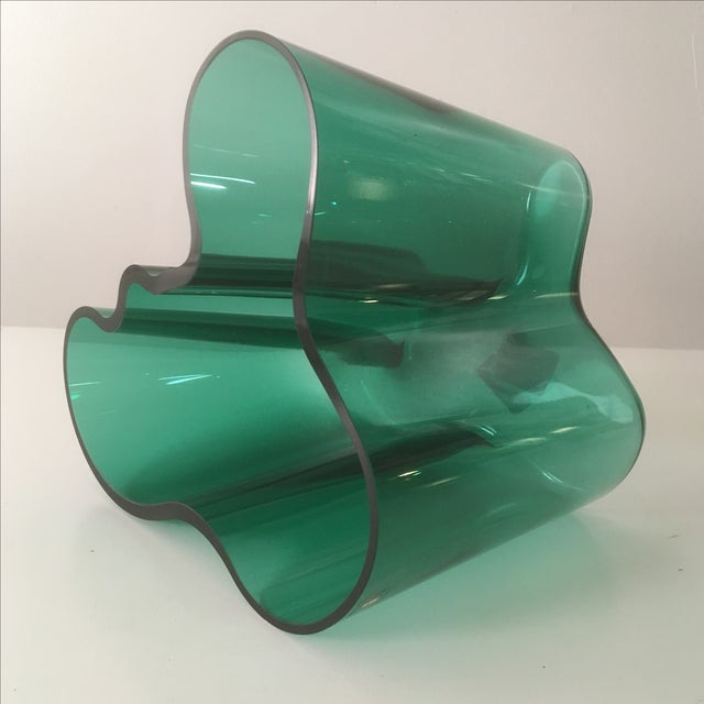 Iittala Short Emerald Green Aalto Vase - Image 5 of 5