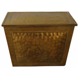 English Brass Fireplace Box