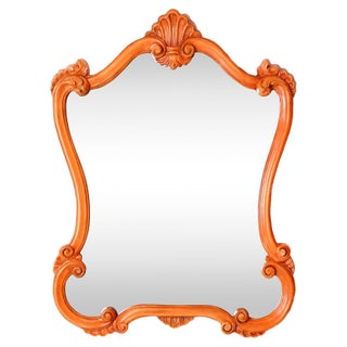 Vintage Orange Baroque Style Mirror