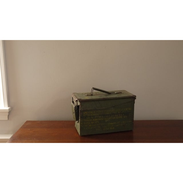 Green Stenciled Army Box - Image 2 of 4