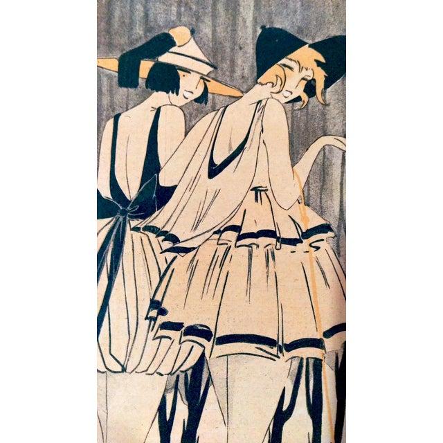 "Original 1920 ""En Promenade"" Fashion Print - Image 3 of 9"