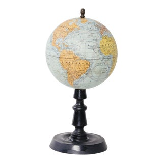 1930's French Terrestrial Globe
