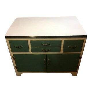 Fully-Restored Vintage Enamel Top Cabinet