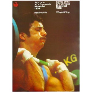 1976 Montreal Olympic Weightlifting Poster