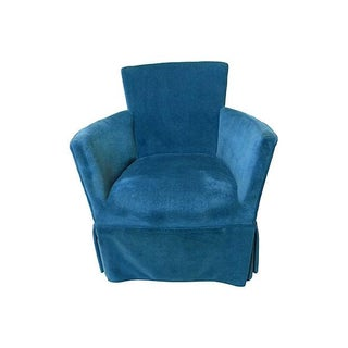 Petite Royal Blue Velvet Chair