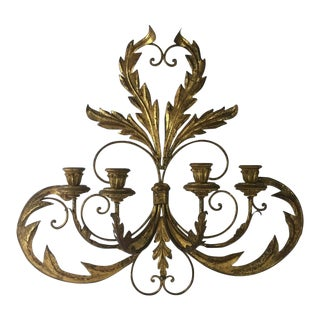 Hollywood Regency Candle Sconce