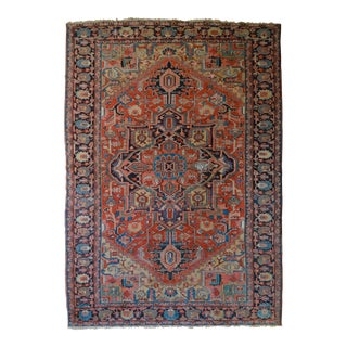Antique Soft-Colored Persian Heriz Rug - 8'1 X 11'2""
