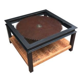 Cordwood Saw Blade Coffee Table