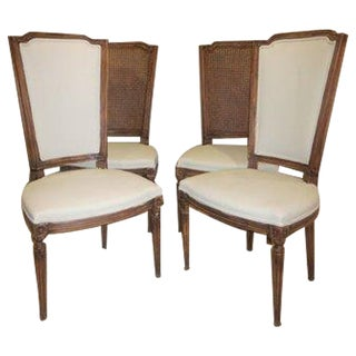 Louis XVI Upholstered Dining Chairs - Set of 4