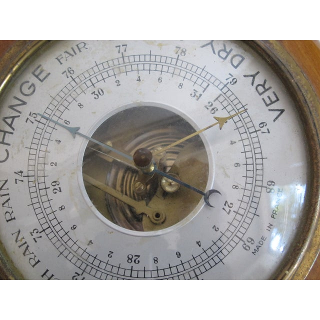 French Wood & Brass Barometer - Image 4 of 5