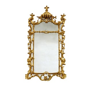 Large Rectangular Ornate Gilt Mirror