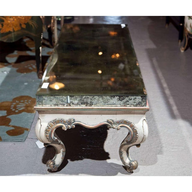 French Rococo Coffee Table: French Rococo Style Painted Glass Top Coffee Table