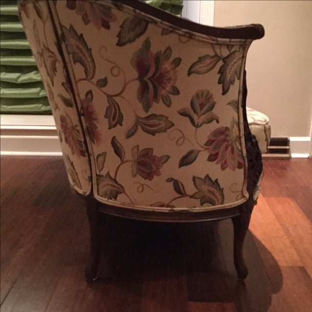Mid-Century 1950 Floral Pattern Settee - Image 4 of 7