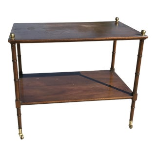 Kittinger Faux Bamboo Serving Tray Table