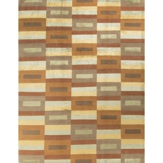 Contemporary Hand Knotted Wool Rug - 9' x 12'