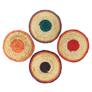 Colorful Woven Trivets - Set of 4