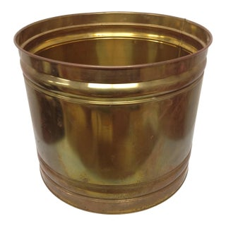 Vintage Patinated Brass Planter