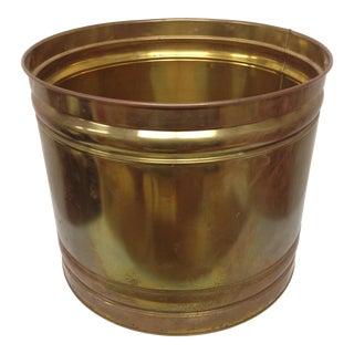 Vintage Patinated Brass Planter
