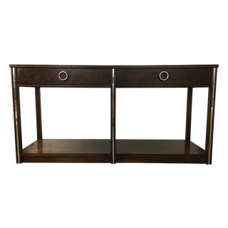 Vintage Wood and Chrome Console/Sofa Table