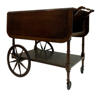 Walter of Wabash Drop-Leaf Bar Cart