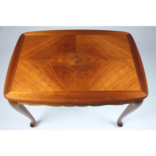 Image of Scalloped Mahogany End Table
