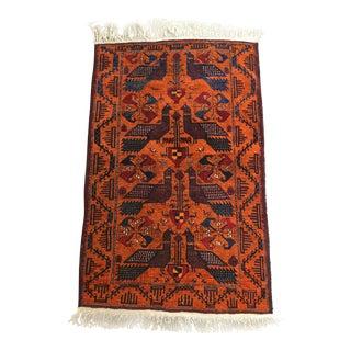 Vintage Afghan Tribal Handwoven Wool Rug