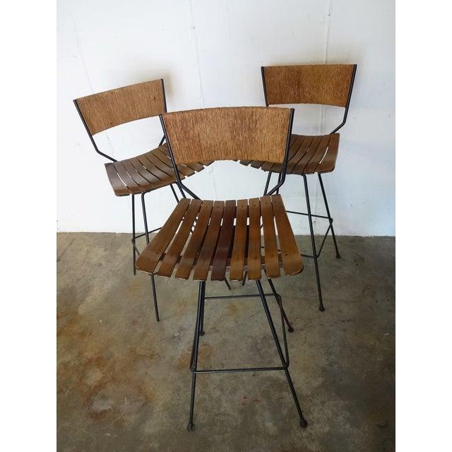 Image of Arthur Umanoff Mid-Century Bar Stools - Set of 3