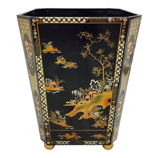 Vintage Chinoiserie Waste Basket