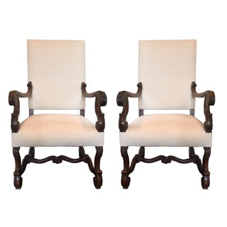 Antique Carved Wood Chairs - A Pair