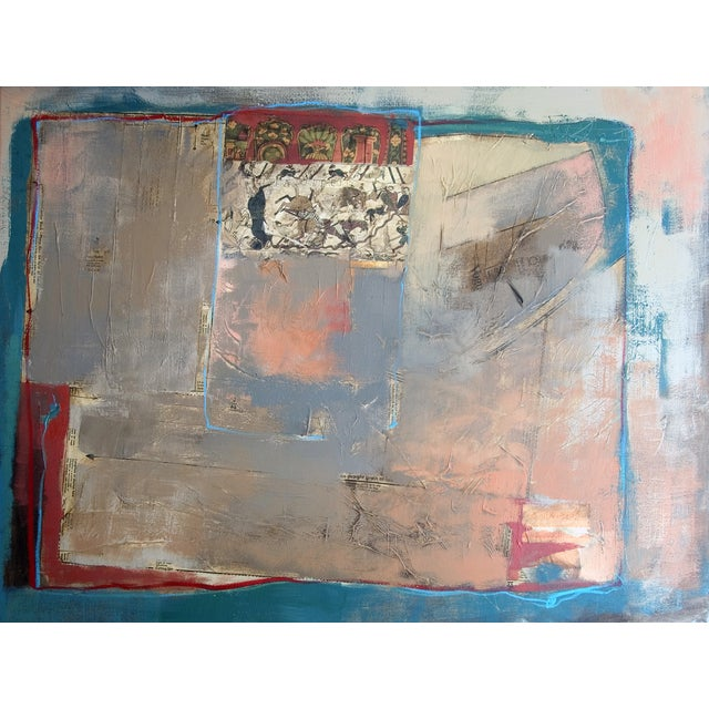 Abstract Painting with Bayeaux Tapestry Image - Image 1 of 4