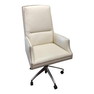 Leather Nailhead Trim Executive Chair